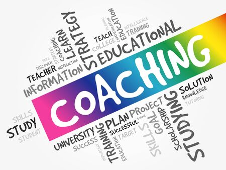 COACHING word cloud, education concept