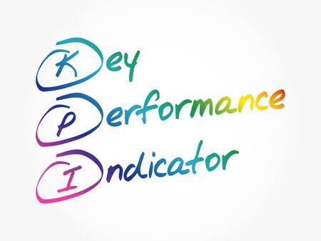 KPI - Key Performance Indicator, business concept acronym