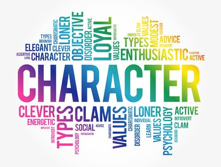 CHARACTER word cloud collage, concept background