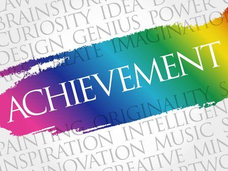 Achievement word cloud collage, business concept background 向量圖像