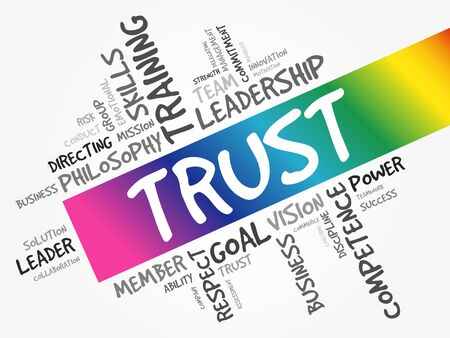 TRUST word cloud collage, business concept background