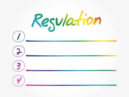 Regulation Blank List, business concept background  イラスト・ベクター素材