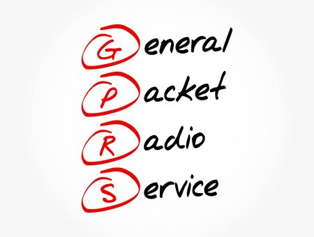 GPRS - General Packet Radio Service acronym, technology concept background