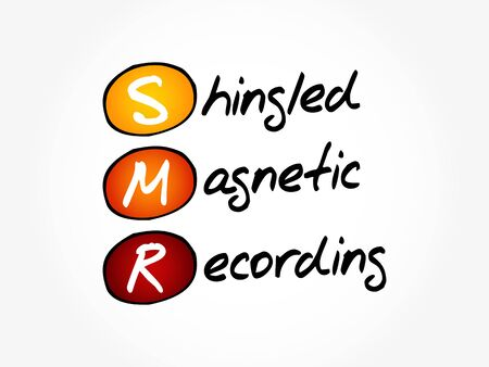 SMR - Shingled Magnetic Recording acronym, technology concept background