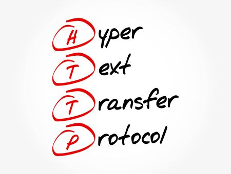HTTP - Hyper Text Transfer Protocol acronym, technology concept background Illustration