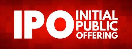 IPO - Initial Public Offering acronym, business concept background