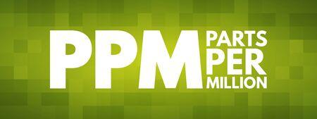PPM - Parts Per Million acronym, medical concept background Illustration