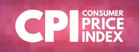 CPI - Consumer Price Index acronym, business concept background