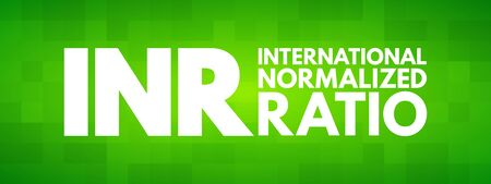 INR - International Normalized Ratio acronym, medical concept background