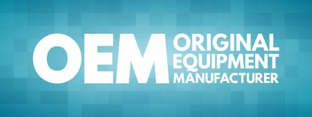 OEM - Original Equipment Manufacturer acronym, business concept background