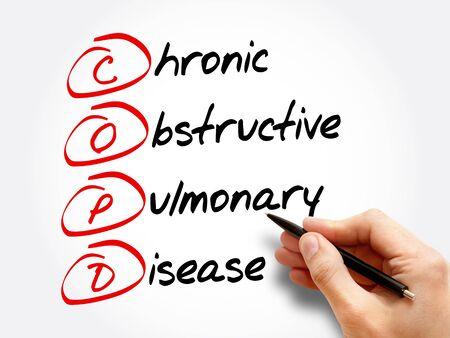 COPD - Chronic Obstructive Pulmonary Disease, acronym health concept background