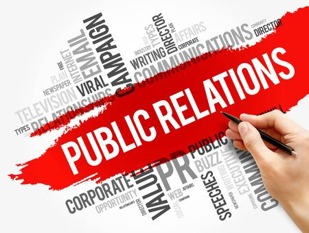 Public Relations word cloud collage, business concept background