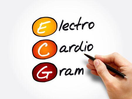 ECG - electrocardiogram acronym, concept background