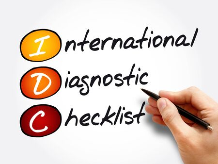 IDC - International Diagnostic Checklist, acronym business concept background