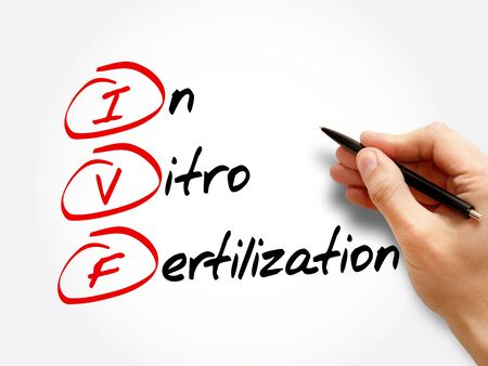 IVF - In Vitro Fertilization, acronym health concept background