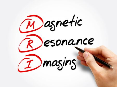 MRI - Magnetic Resonance Imaging, acronym health concept background Zdjęcie Seryjne
