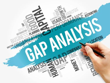 Gap Analysis word cloud collage, business concept background Stok Fotoğraf