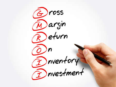 GMROII - Gross Margin Return on Inventory Investment acronym, business concept background