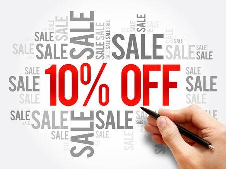 10% OFF Sale words cloud, business concept backgroun