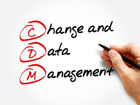 CDM – Change and Data Management acronym, business concept background Stock Photo