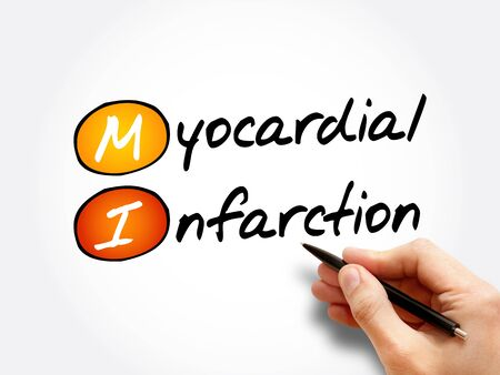 MI - Myocardial Infarction acronym, health concept background