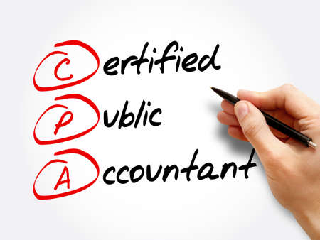 CPA – Certified Public Accountant acronym, business concept background 스톡 콘텐츠 - 157869201