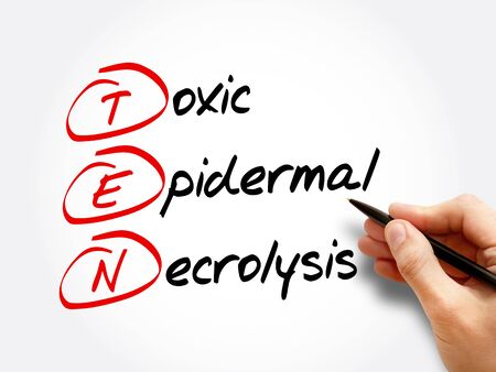 TEN - Toxic Epidermal Necrolysis, acronym health concept background Stock Photo