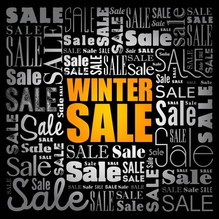WINTER SALE words cloud, business concept background