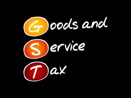 GST - Goods and Service Tax, acronym business concept background Illusztráció