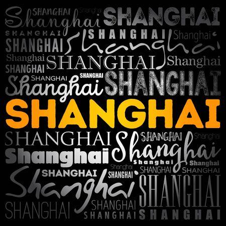 Shanghai wallpaper word cloud, travel concept background