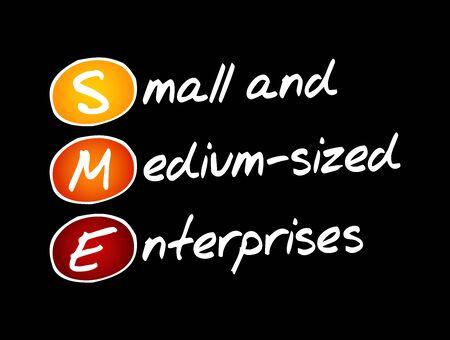 SME - Small And Medium-sized Enterprises, acronym business concept background