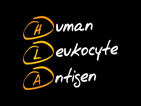 HLA - Human Leukocyte Antigen acronym, medical concept background