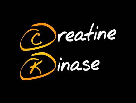 CK - Creatine Kinase acronym, medical concept background Vectores