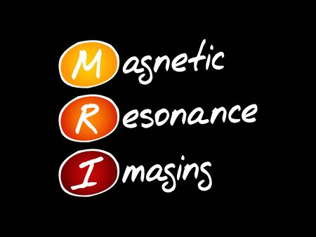 MRI - Magnetic Resonance Imaging, acronym health concept background Ilustracja