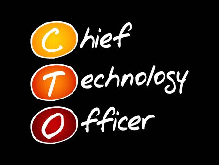 CTO - Chief Technology Officer acronym, concept background
