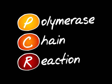 PCR - Polymerase Chain Reaction, acronym, medical concept background