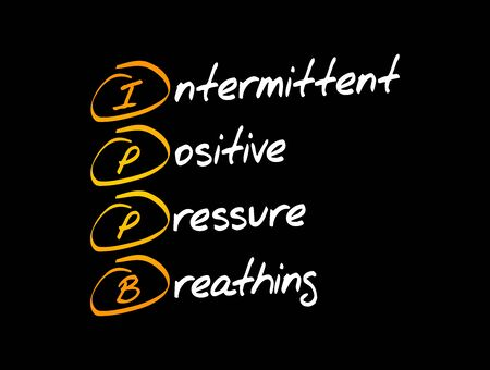 IPPB - Intermittent Positive Pressure breathing acronym, medical concept background