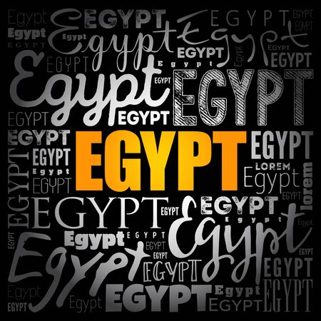 Egypt wallpaper word cloud, travel concept background