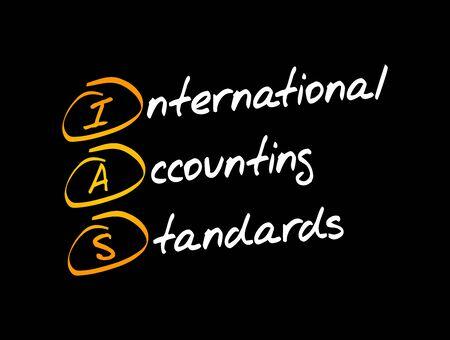 IAS - International Accounting Standards acronym, business concept background Ilustração