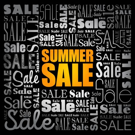 SUMMER SALE word cloud collage, business concept background