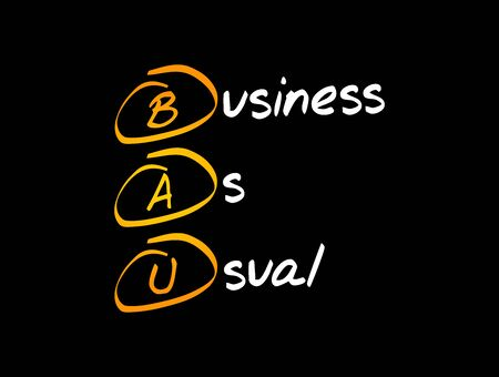 BAU - Business as Usual acronym, business concept background 스톡 콘텐츠 - 150400222