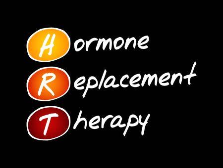 HRT - Hormone Replacement Therapy, acronym health concept background Foto de archivo - 150293829