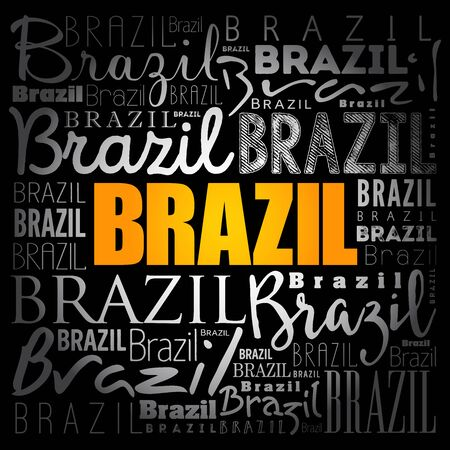 Brazil wallpaper word cloud, travel concept background