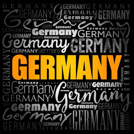 Germany wallpaper word cloud, travel concept background