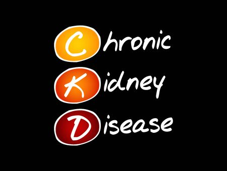 CKD - Chronic Kidney Disease, acronym health concept background