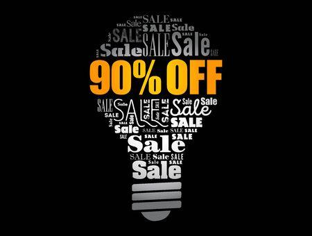 90% OFF Sale light bulb word cloud collage, business concept background Stock Illustratie