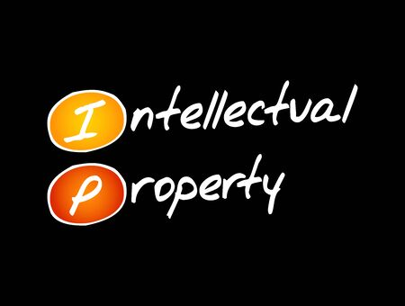 IP - Intellectual Property acronym, business concept background 向量圖像