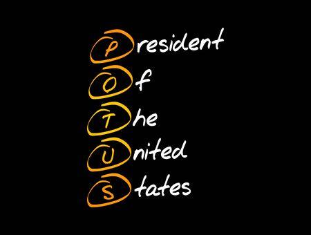 POTUS - President of the United States acronym, concept background