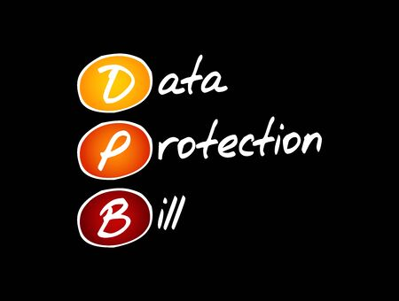 DPB - Data Protection Bill acronym, technology concept background