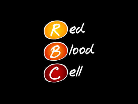 RBC - Red Blood Cell acronym, medical concept background